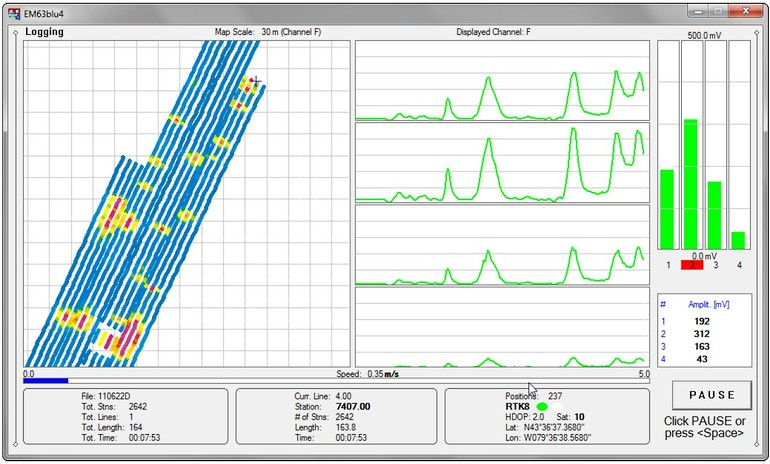EM63-Flex Data Acquisition software