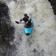Matt Guy - Picture shows Matt is an adept white water kayaker!