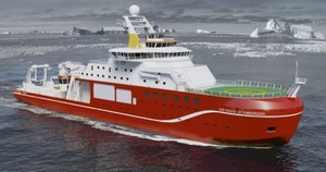 RRS Sir David Attenborough – artist's impression. Credit: Cammell Laird and British Antarctic Survey (with permission from the British Antarctic Survey)