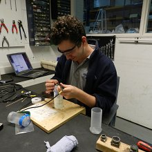 Theo Hendry-Smith - Picture shows Theo replacing a Caesium Vapour sensor cable.